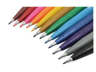 Viltstiften met Brushpunt