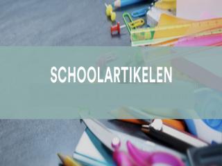 Alles voor school