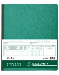 Register piqure aandeelhouder nv/sa 250x320mm 80vel groen