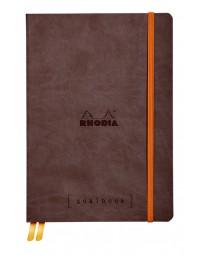 Bulletjournal rhodia a5 120vel dots chocolade bruin