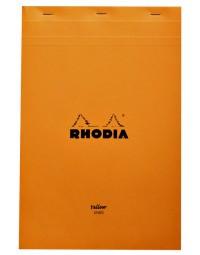 Schrijfblok rhodia a4 80vel lijn oranje