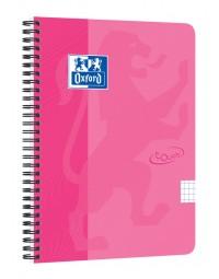 Spiraalblok oxford touch a5 ruit 5mm 70vel roze
