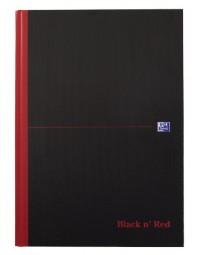 Notitieboek oxford black n' red a4 96vel lijn