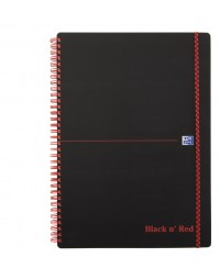 Notitieboek oxford black n' red a4 pp 70vel ruit 5mm