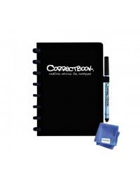 Notitieboek correctbook uitwisbaar en herbruikbaar a5 zwart blanco 40blz