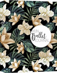 Bullet journal black flower
