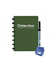 Notitieboek correctbook uitwisbaar en herbruikbaar a5 bosgroen lijn 40blz