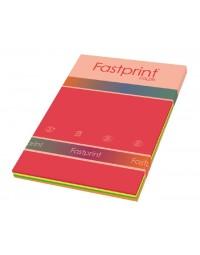 Kopieerpapier fastprint a4 80gr neon assorti 100vel