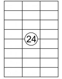 Etiket quantore 70x37mm 360stuks