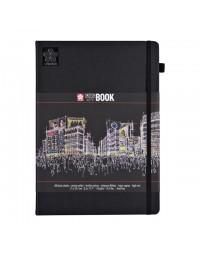 Schets-notitieboek sakura a4 zwart