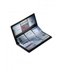 Visitekaartmap sigel vz175 288kaarten lederlook mat zwart
