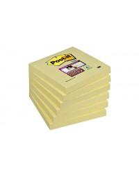 Memoblok 3m post-it 654 super sticky 76x76mm geel