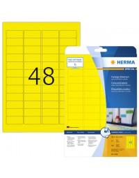 Etiket herma 4366 a4 45.7x21.2mm verwijderbaar geel