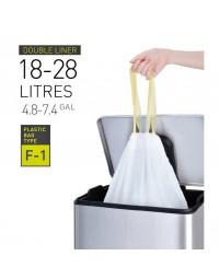Afvalzak eko met trekband wit 18-28 liter type f1