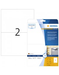 Etiket herma 4600 210x148mm a4 folie 20st wit