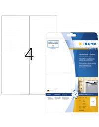 Etiket herma 4598 105x148mm a4 4 st folie wit