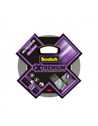 Plakband scotch extremium no residue duct tape 18.2mx48mm grijs