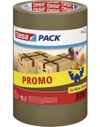 Verpakkingstape tesa 57519 50mmx66m bruin pp promopack