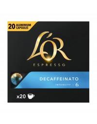 Koffiecups douwe egberts l'or espresso decaffeinato 20 stuks