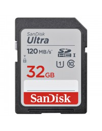 Geheugenkaart sandisk sdhc ultra 32gb (class 10/uhs-i/120mb/s)