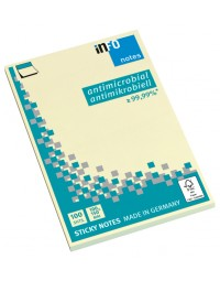 Memoblok info notes antimicrobiëel 100x150mm geel