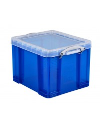 Opbergbox really useful 35 liter 480x390x310 mm transparant blauw
