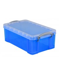 Opbergbox really useful 5 liter 340x200x125 mm transparant blauw
