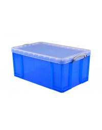 Opbergbox really useful 64 liter 710x440x310 mm transparant blauw