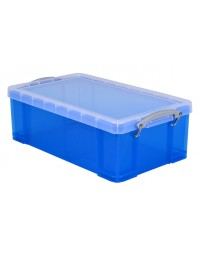 Opbergbox really useful 12 liter 465x270x150 mm transparant blauw