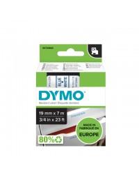 Labeltape dymo 45804 d1 720840 19mmx7m blauw op wit