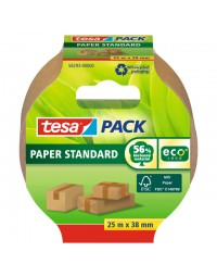 Verpakkingstape tesa 58293 eco papier fsc 38mmx25m bruin