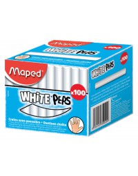Schoolbordkrijt maped color'peps wit stofvrij