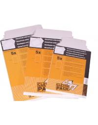 Envelop cleverpack a4 238x312mm karton wit 5stuks