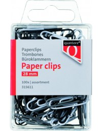 Paperclip quantore blister 28mm assorti