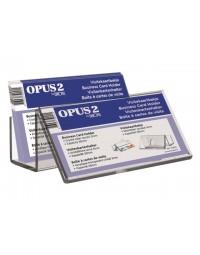 Visitekaartenbak opus 2 bali met voorbeeldvenster acryl
