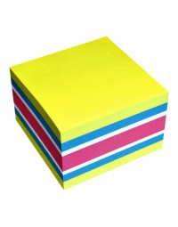 Memoblok info notes kubus 75x75mm neon assorti 450vel