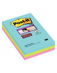 Memoblok 3m post-it 4690 super sticky 101x152mm miami