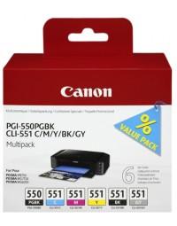 Inkcartridge canon pgi-550 + cli-551 zwart + kleur
