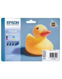 Inkcartridge epson t0556 zwart + 3 kleuren