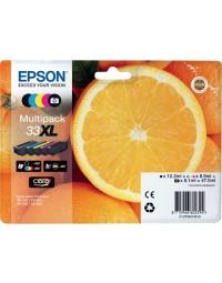 Inktcartridge epson 33xl t3357 2x zwart + 3 kleuren hc