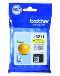 Inkcartridge brother lc-3211 geel