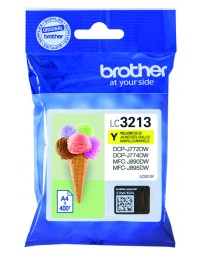 Inkcartridge brother lc-3213 geel hc