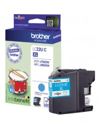 Inkcartridge brother lc-22u blauw