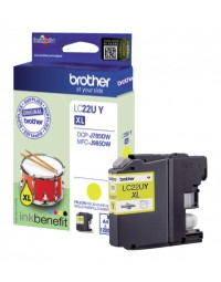 Inkcartridge brother lc-22u geel