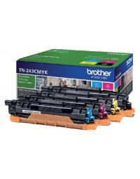Tonercartridge brother tn-243 zwart + 3 kleuren