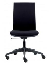 Bureaustoel euroseats canillo gestoffeerde rug zwart