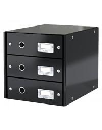Ladenbox leitz wow click & store 3 laden zwart