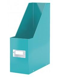 Tijdschriftcassette leitz wow click & store ijsblauw