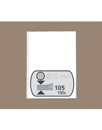 Draadrug gbc 12.7mm us/21rings a4 zilver 100stuks