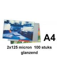 Lamineerhoes gbc a4 2x125micron 100stuks